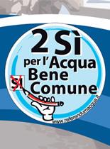 12-13 giugno: due sì per difendere l'acqua pubblica